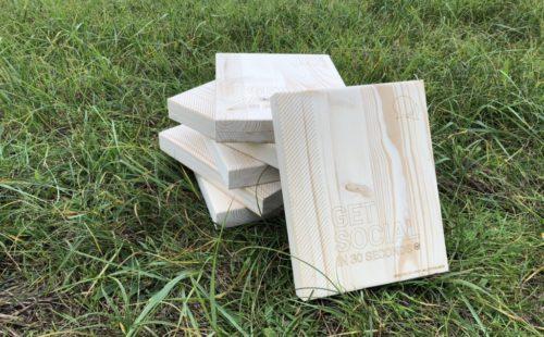 30 seconden houten telefoon boekjes